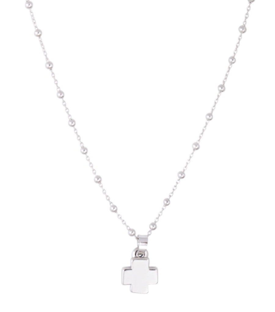 chain zirconia pendant cross cubic silver sterling square products