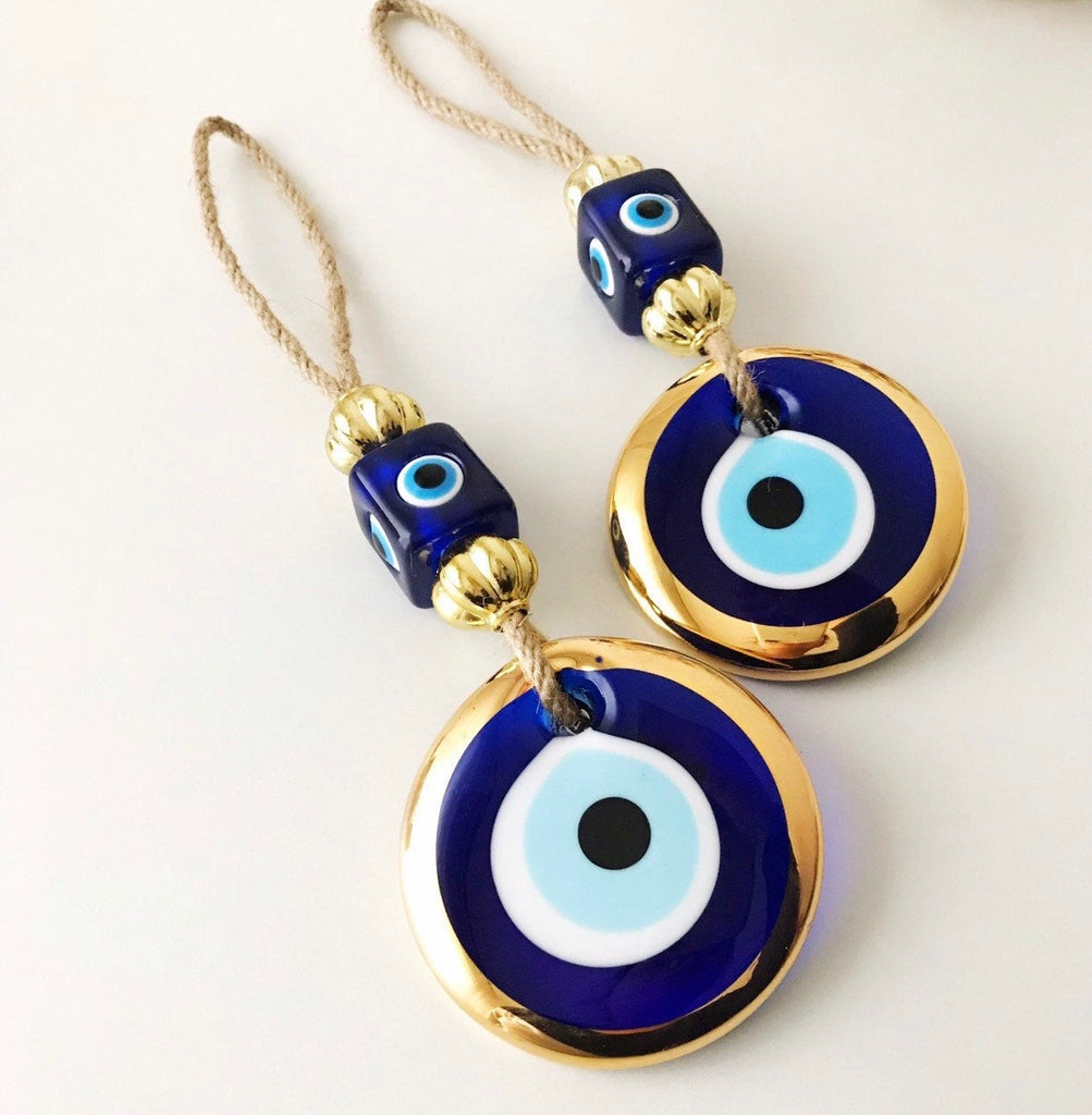 Organic Gold Evil Eye Ornament
