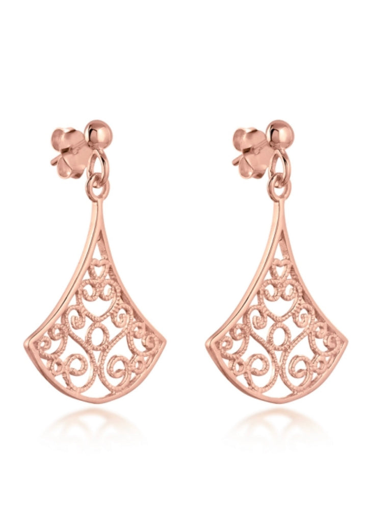 Kimono Earrings in Rose Gold