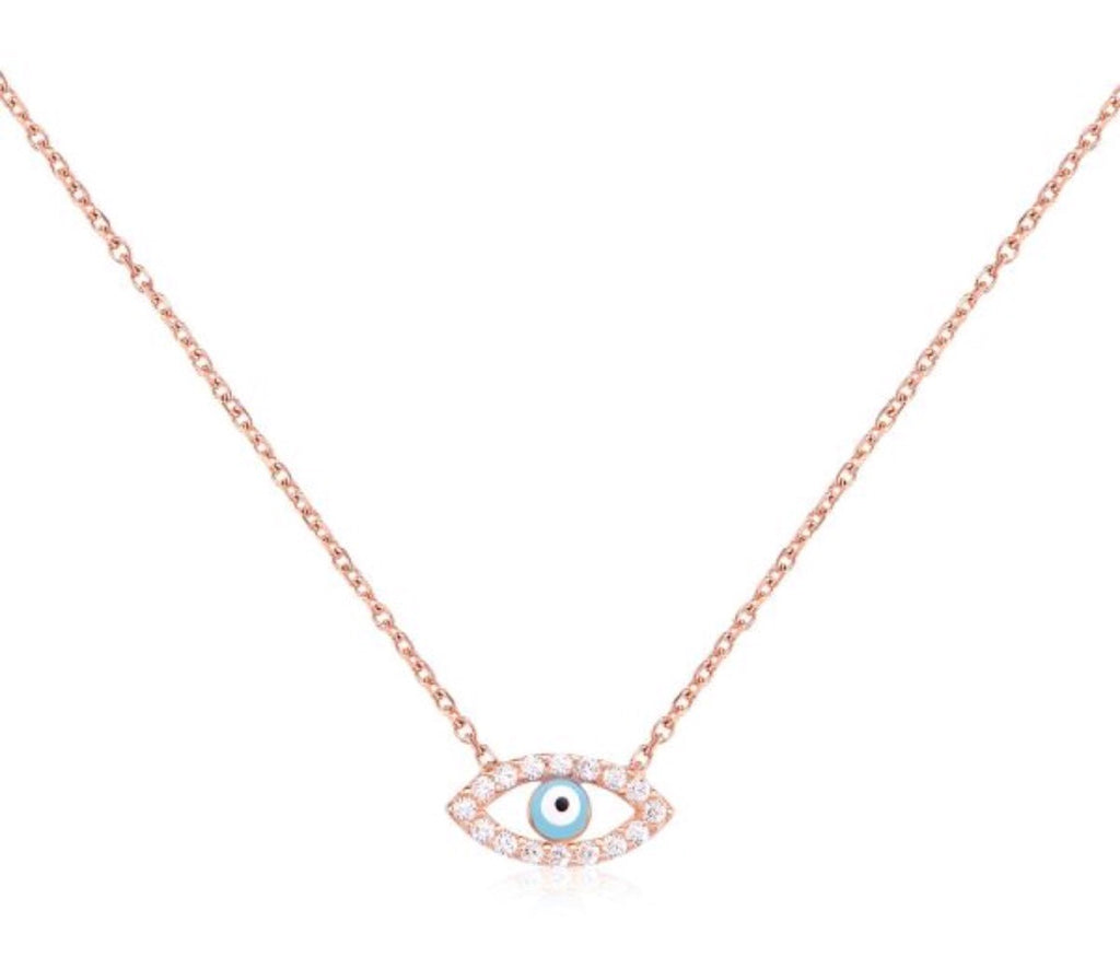 Eye On You Necklace in Rose Gold