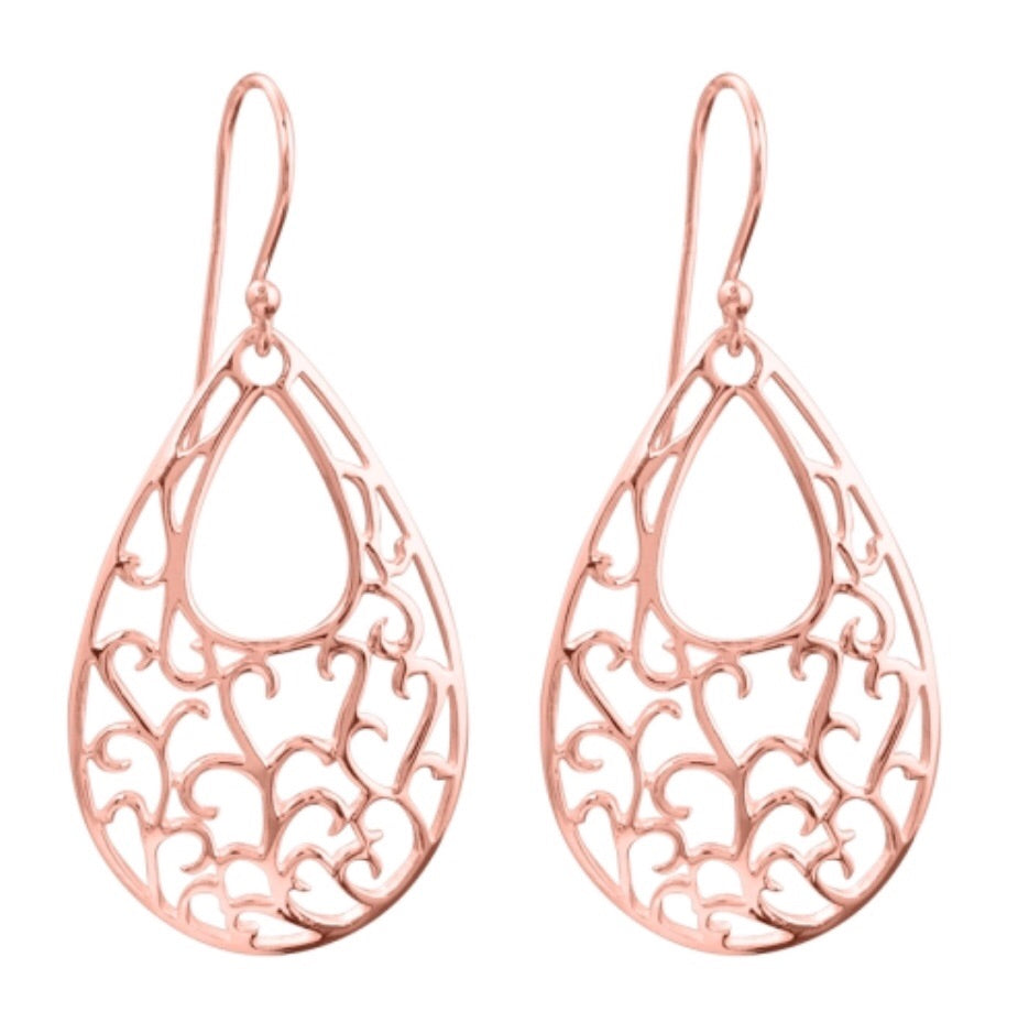 Summer Nights Earrings in Rose Gold