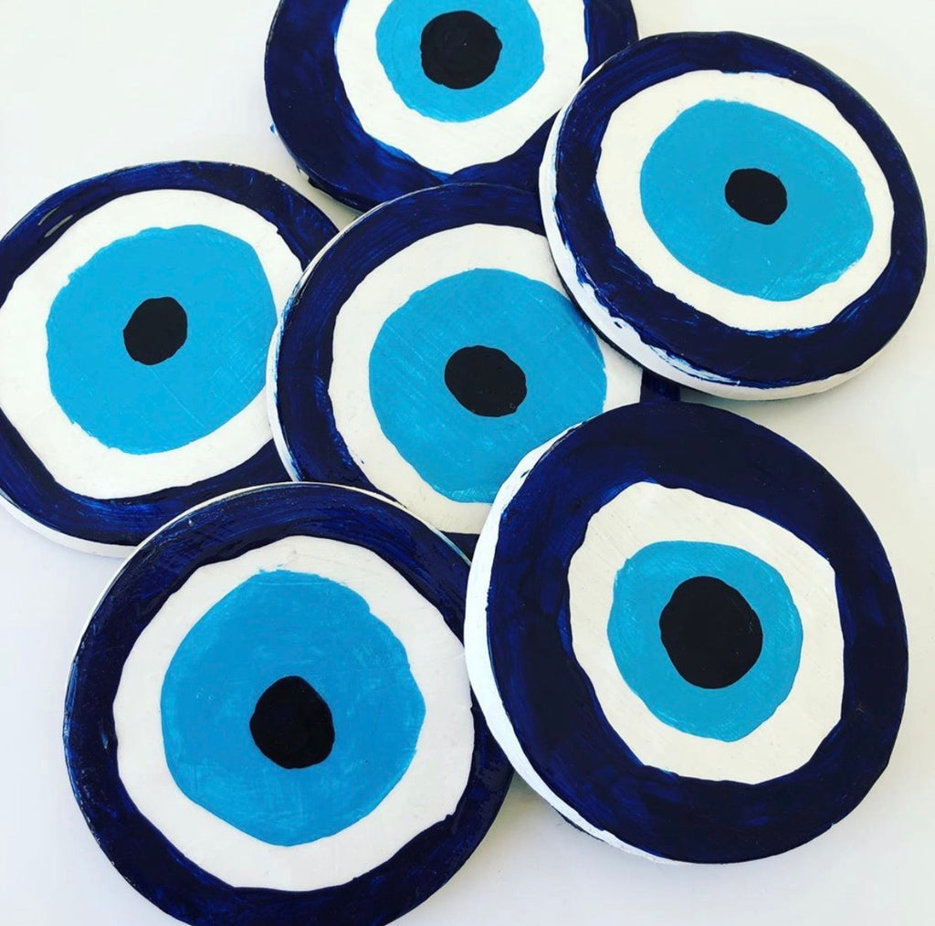 Evil Eye Table Coasters set of 4