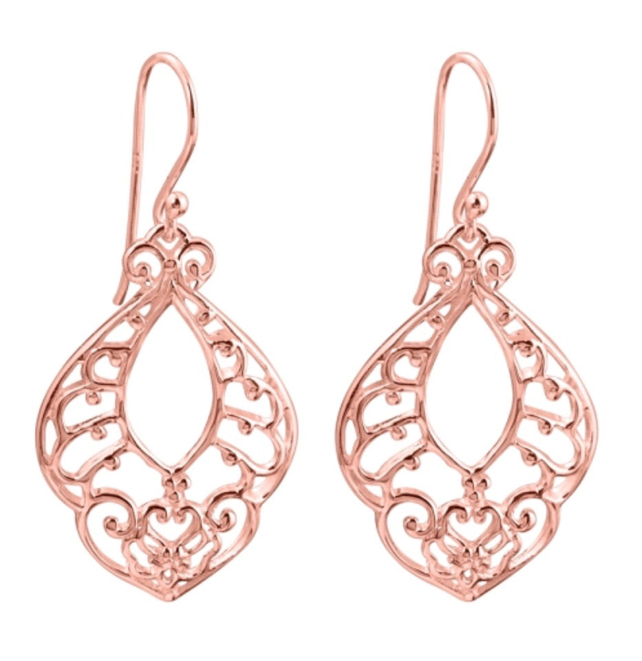 Open Nights Earrings in Rose Gold