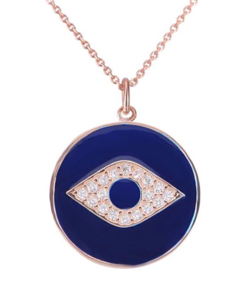 Round Eye In The Middle Necklace