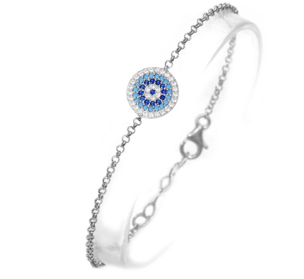 Naxos Evil Eye Bracelet in Sterling Silver