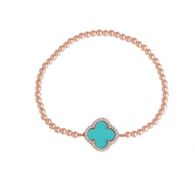 Summer Diamond Beaded Bracelet in Turquoise and Sterling Silver