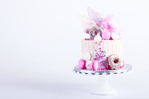 Candy drizzle drip cake