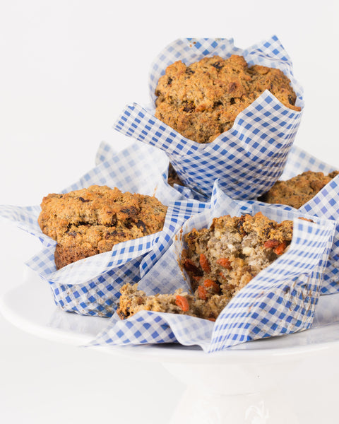 Goji berrie and carrot health muffins * Sugar-free (price per 6 items)