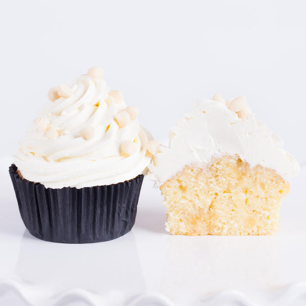 White Choc-chip Cupcake