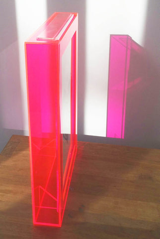 A4 Portrait Acrylic Frame- Neon Pink