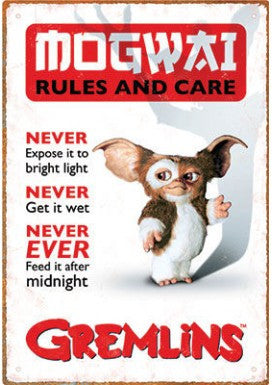 Tin Sign - Gremlins Rules