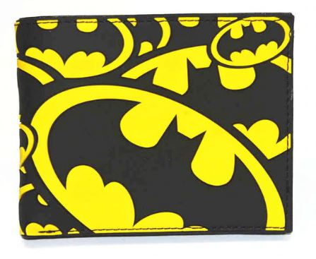 Wallet - Batman Logo on black and yellow logo background