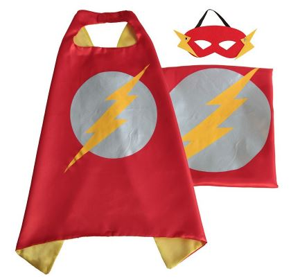 Cape & Mask Set - Small - The Flash