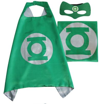 Cape & Mask Set - Small - Green Lantern