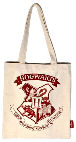 Bag - Hogwarts Crest One Colour Shopper - Harry Potter