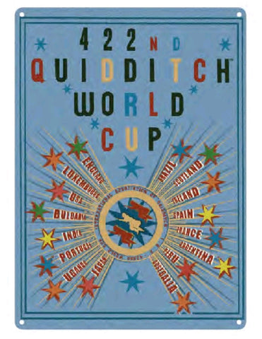 Tin Sign - Large - Harry Potter Quidditch World Cup A3 Tin Sign