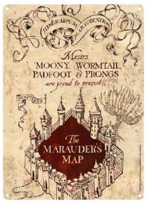 Tin Sign - Marauders Map Small Tin Sign - Harry Potter