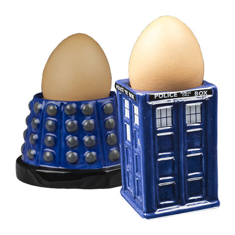 Egg Cups - Dr Who Tardis & Dalek