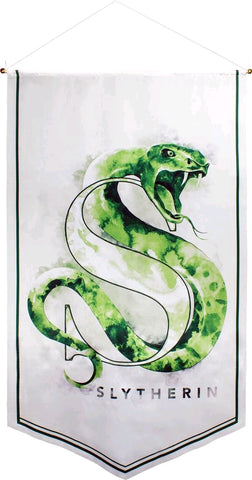 Banner - Harry Potter - Slytherin Watercolour Satin Banner
