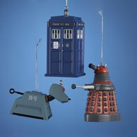 "Christmas Decorations - Doctor Who 4.5"" Blow Mold Ornaments"