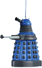 "Christmas Decorations - Doctor Who - 2.5"" Dalek (Blue) Blow Mold Christmas Ornament"