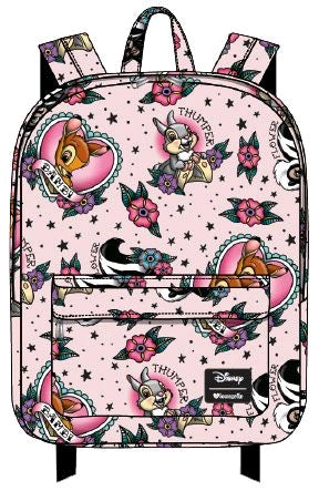 Loungefly - Disney - Bambi - Bambi and Thumper Tattoo Print Backpack
