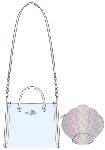 Loungefly - The Little Mermaid - Ariel 30th Anniversary 2-piece Crossbody Bag