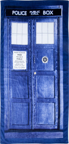 Beach Towel - Tardis - Doctor Who
