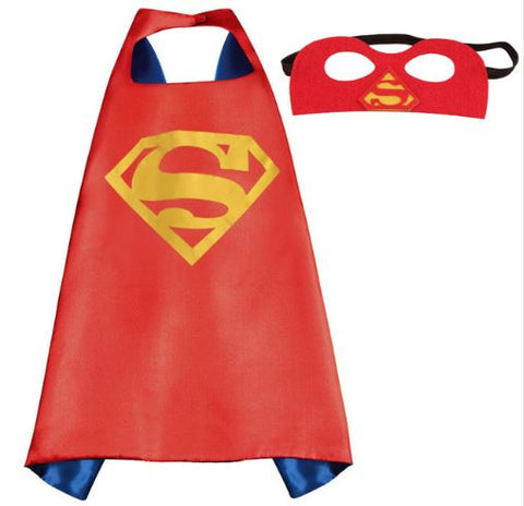 Cape & Mask Set - Small - Superman Red
