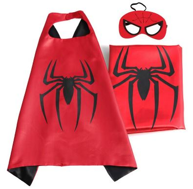 Cape & Mask Set - Small - Spiderman
