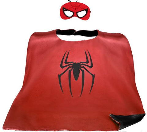 Cape & Mask Set - Large - Spiderman