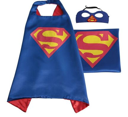 Cape & Mask Set - Small - Superman Blue