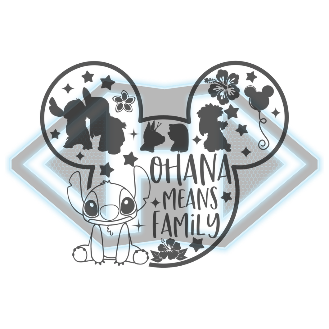 Vinyl Decal - Stitch - Mickey Ears