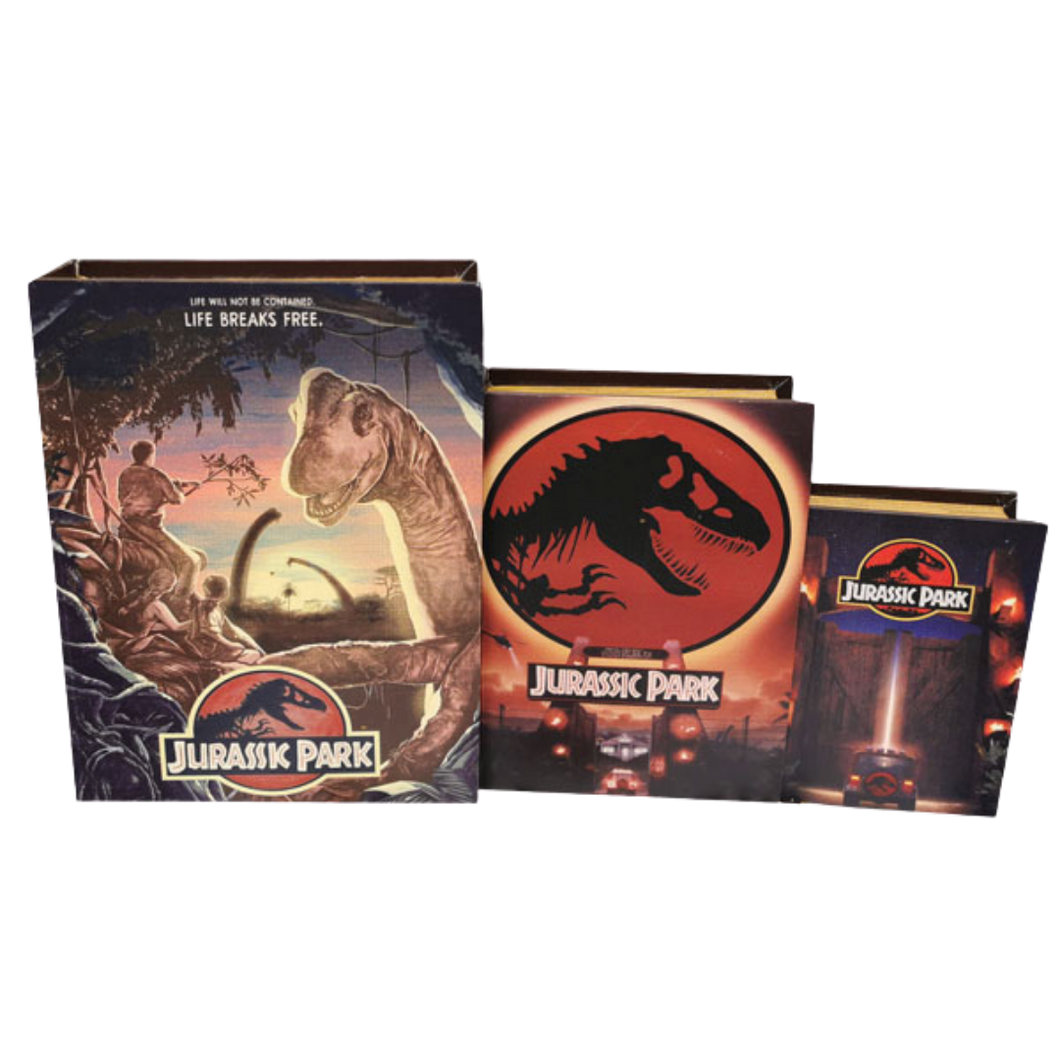 Book Storage Box - Jurassic Park - 3 Sizes