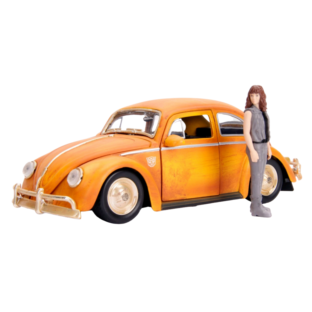 Car - Hollywood Rides 1:24 Scale Diecast Vehicle - Transformers - 1971 Volkswagon Beetle Bumblebee