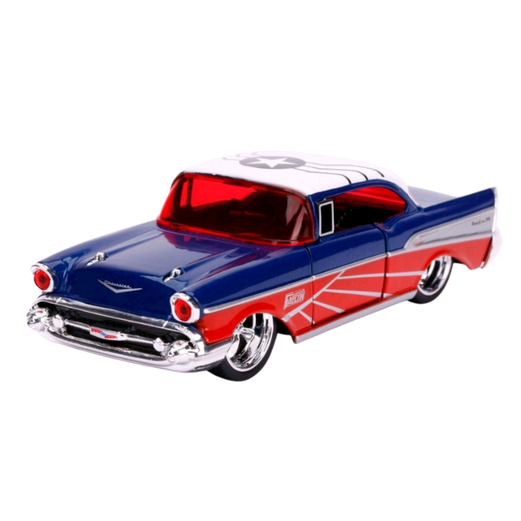 Car - Hollywood Rides - 1:32 - Captain America - Falcon 1957 Chevy Bel-Air