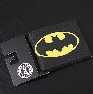 Wallet - Batman  - Logo on Black Logos, Silicone type