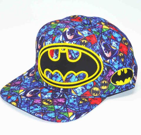 Cap - Batman with Comic Background