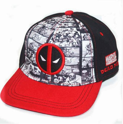 Cap - Deadpool with Comic Background