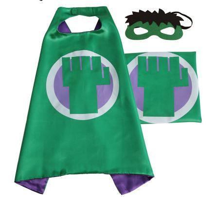 Cape & Mask Set - Small - Hulk