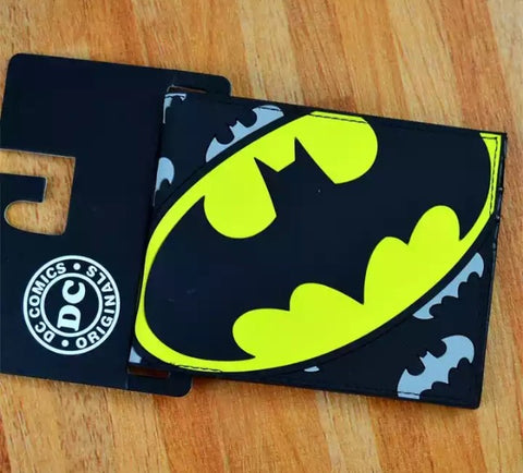 Wallet - Batman Logo on Grey Logo Background Silicon Type