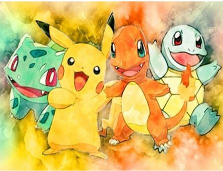 Diamond Art Kit - Pokemon - Starters - 30 x 40cm Full Square Drill