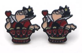 Earrings - Alice in Wonderland - Queen of Hearts