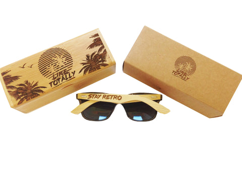 Like Totally - Wayfarer Bamboo Sunglasses Set