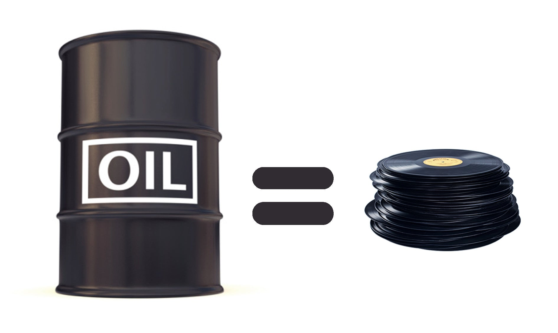 oil equals vinyl