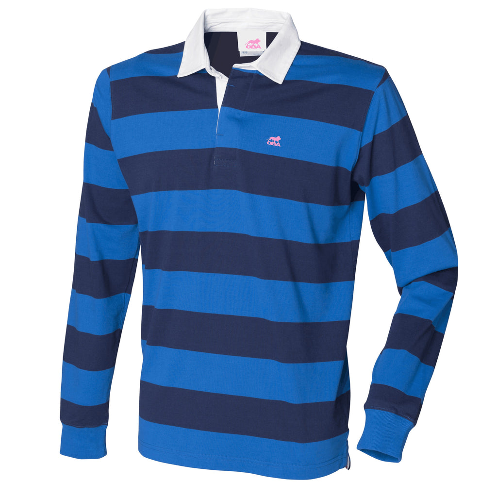 Striped long sleeve rugby shirt