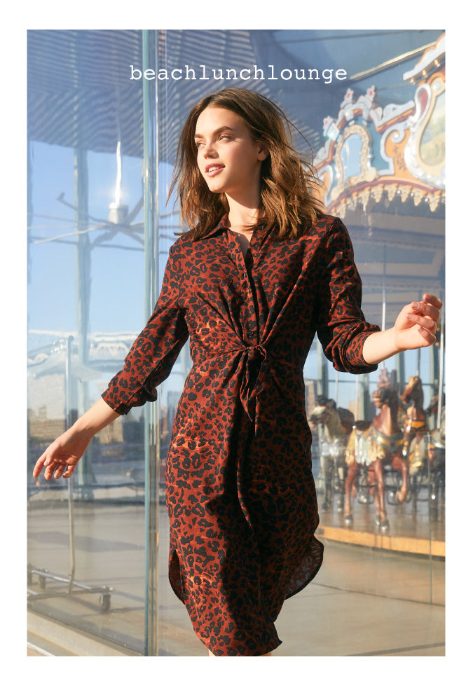Beachlunchlounge red animal print dress