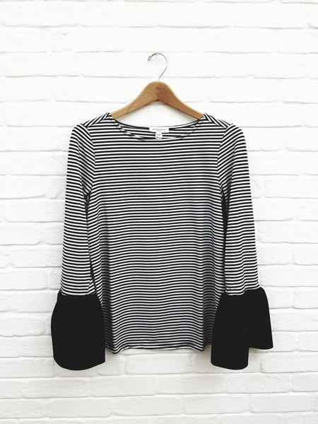 Sloane - Black/White Stripe
