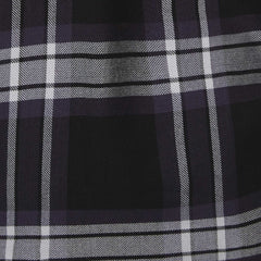black and white plaid fabric