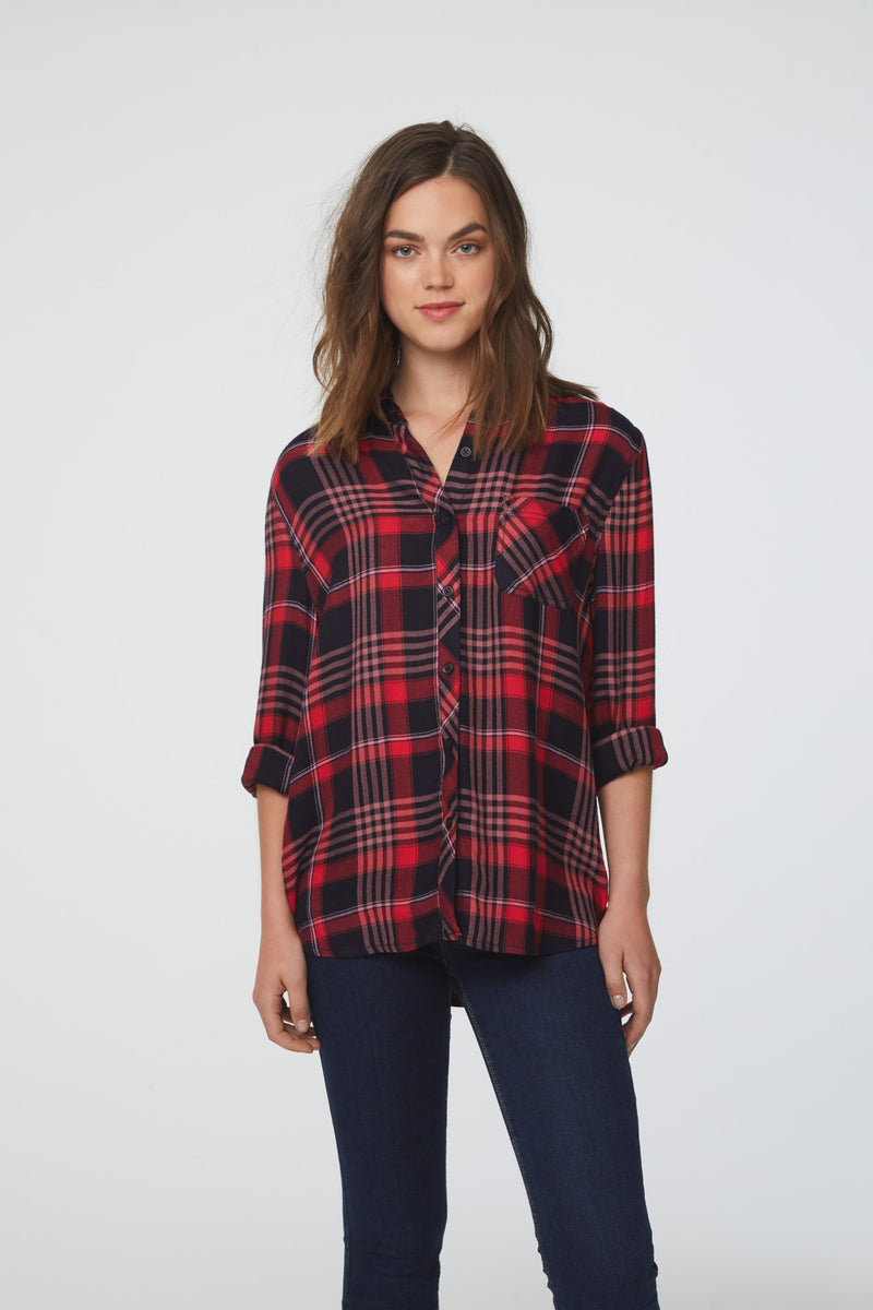 CHARLEY SHIRT - RED WHITE & NO